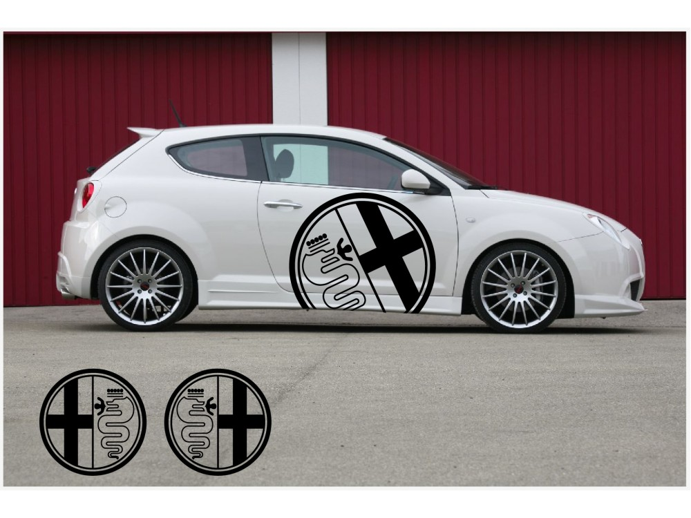 Decal To Fit Alfa Romeo Side Decal 2pcs Kit 90cm Alf0033 For