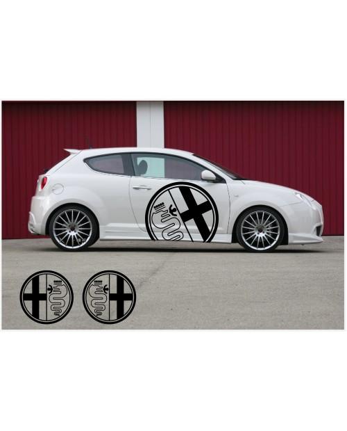 Aufkleber passend für Alfa Romeo Seitenaufkleber Aufkleber 2Stk. Satz 90cm