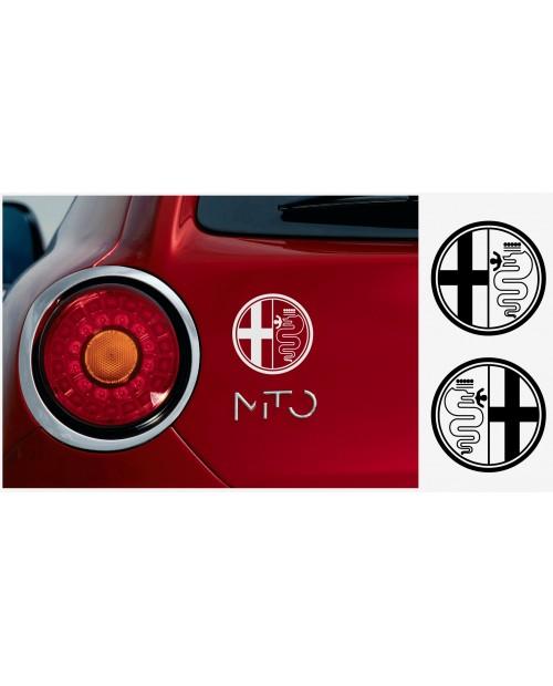 Aufkleber passend für Alfa Romeo Seitenaufkleber Aufkleber 2Stk. Satz 10cm