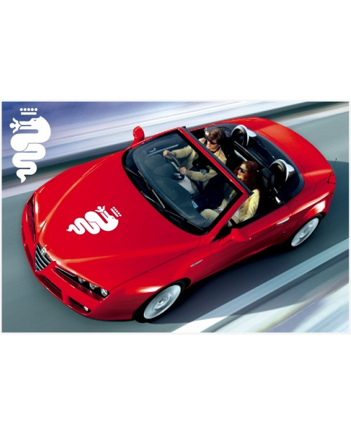 Aufkleber passend für Alfa Romeo bonnet snake biscione Aufkleber 61cm old logo