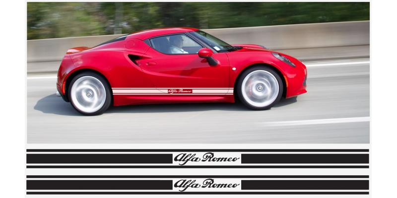 Alfa Romeo 4c Seitenaufkleber Aufkleber Satz