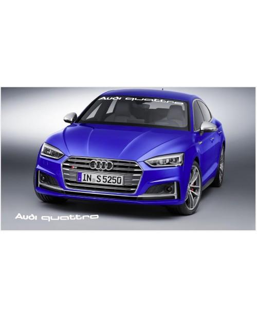 Aufkleber passend für Audi quattro Frontscheiben Sonnenblendstreifen Aufkleber 950 mm