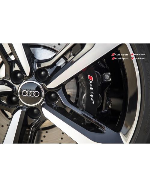 Aufkleber passend für Audi Sport Bremssattel Felgen Spiegel Fenster Aufkleber 80mm + 70mm