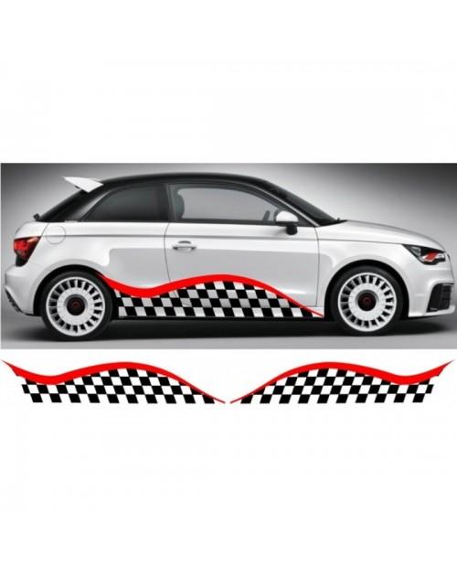 Aufkleber passend für Audi A1 Seitenaufkleber Aufkleber Satz