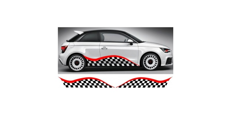 Decal to fit Audi A1 side decal sticker stripe kit