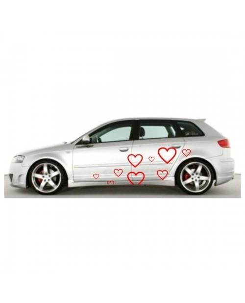 Aufkleber passend für Audi A3 Seitenaufkleber Aufkleber Satz