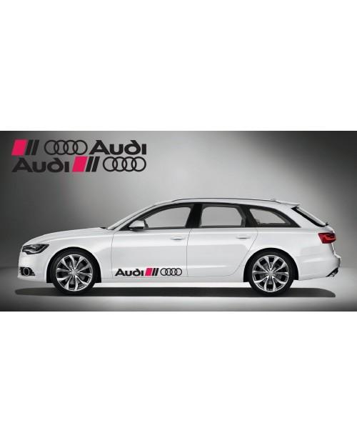 Aufkleber passend für Audi Ringe side Aufkleber 2Stk. Satz 100cm