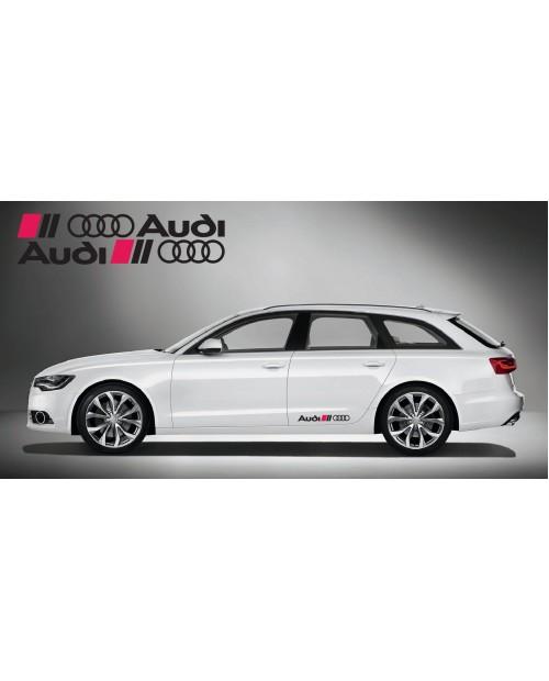 Aufkleber passend für Audi Ringe side Aufkleber 2Stk. Satz 60cm