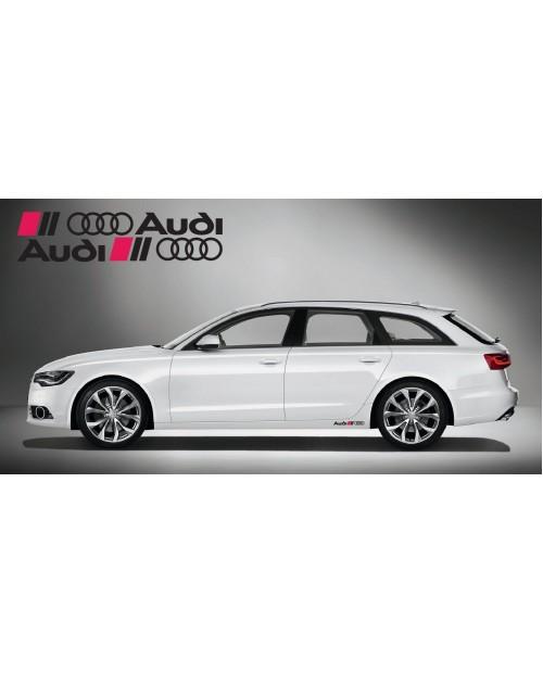 Aufkleber passend für Audi Ringe side Aufkleber 2Stk. Satz 40cm