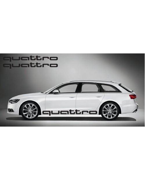 Aufkleber passend für Audi quattro side Aufkleber 2Stk. Satz 180cm