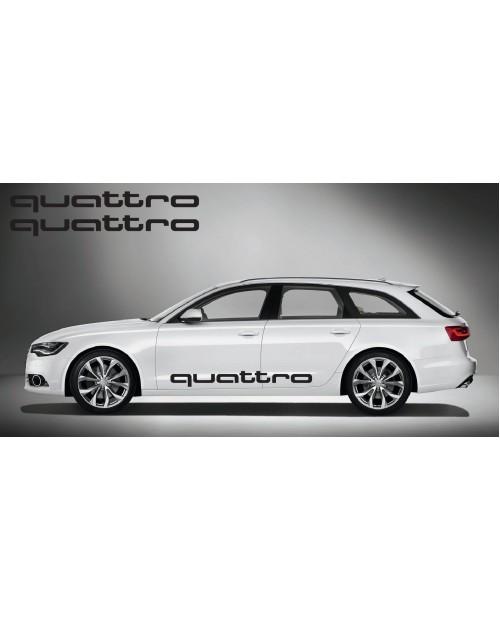 Aufkleber passend für Audi quattro side Aufkleber 2Stk. Satz 150cm