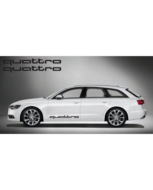 Aufkleber passend für Audi quattro side Aufkleber 2Stk. Satz 100cm