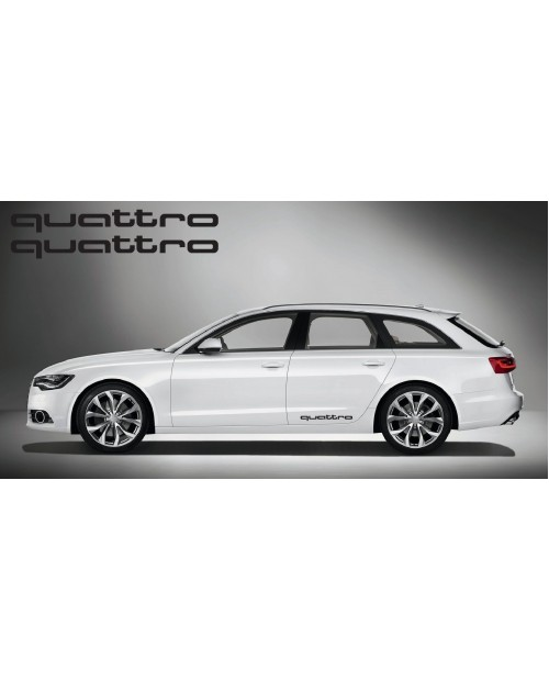 Aufkleber passend für Audi quattro side Aufkleber 2Stk. Satz 60cm