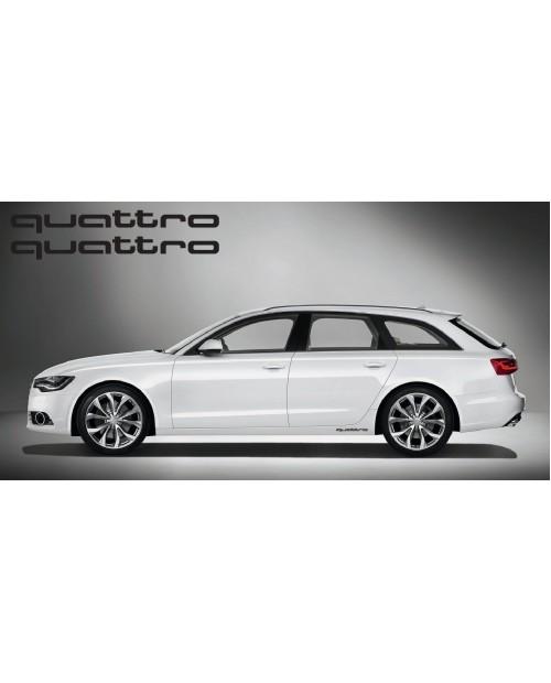 Aufkleber passend für Audi quattro side Aufkleber 2Stk. Satz 40cm