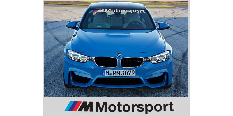 Aufkleber passend für BMW M Motorsport Frontscheibe Aufkleber