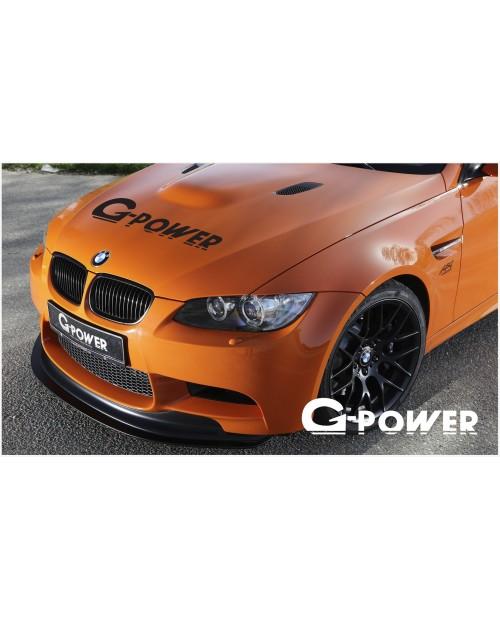 Aufkleber passend für BMW G Power Haubenaufkleber 950mm