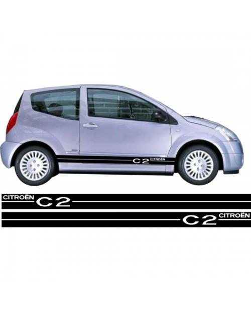 Aufkleber passend für Citroen C2 Seitenaufkleber Aufkleber Satz