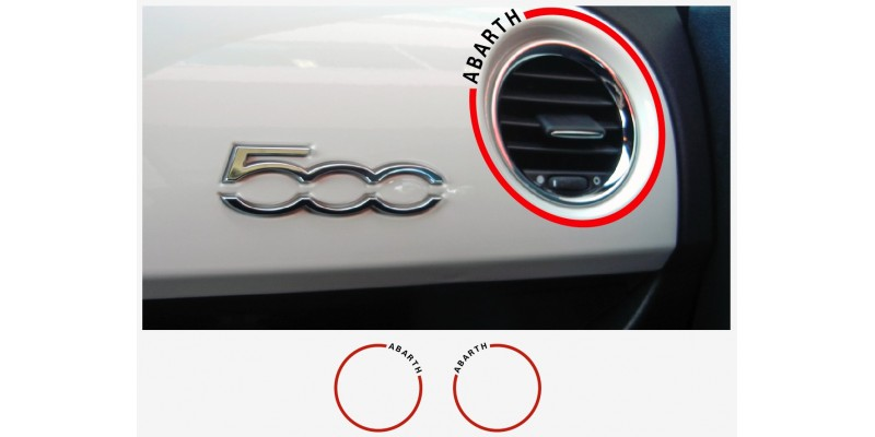 Decal to fit Fiat 500 ABARTH dashboard decal 2 pcs.