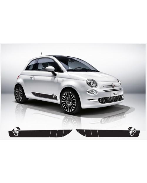 Aufkleber passend für Fiat 500 Abarth Seitenaufkleber mit Skorpion L+R