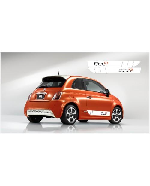 Aufkleber passend für Fiat 500 Abarth Seitenaufkleber 500e L+R