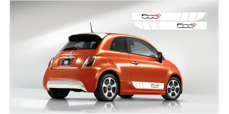 Decal to fit Fiat 500 side decal kit 500e L+R