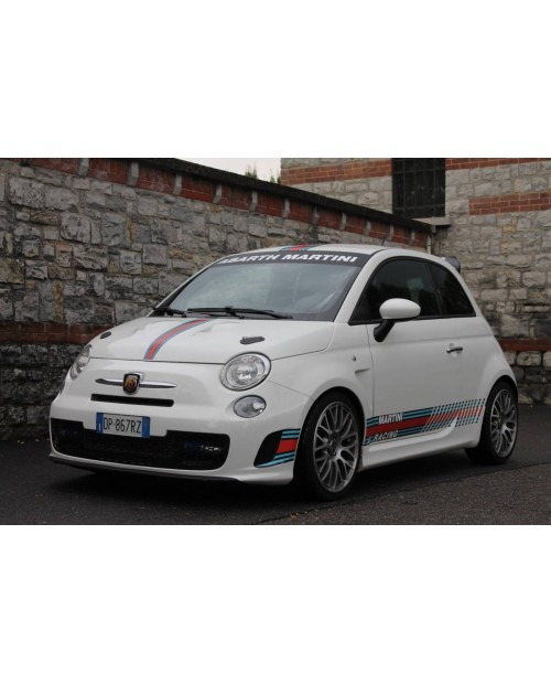 Aufkleber passend für Fiat 500 Abarth Martini Racing Aufkleber Komplet Satz 9Stk.