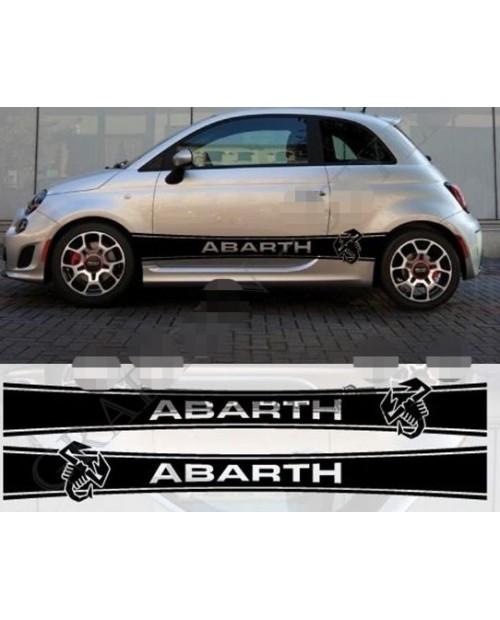 Aufkleber passend für Fiat 500 Abarth Aufkleber 2Stk. Seitenaufkleber Satz