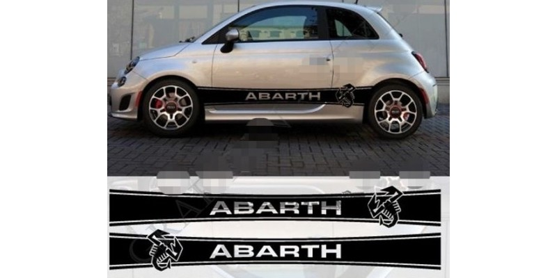 Decal to fit Fiat 500 Abarth Decal Side decal stripes 2 pcs. set