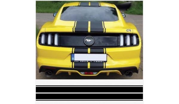 Aufkleber passend für Ford Mustang Rennstreiffen 534mm x 1980mm 3Stk.