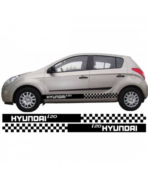 Aufkleber passend für Hyundai i20 Seitenaufkleber Aufkleber Satz