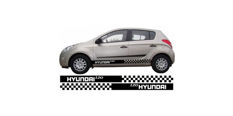 Decal to fit Hyundai i20 side decal sticker stripe kit