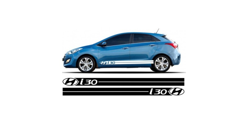 Decal to fit Hyundai i30 side decal sticker stripe kit