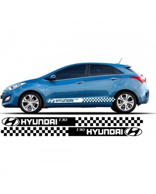 Aufkleber passend für Hyundai i30 Seitenaufkleber Aufkleber Satz