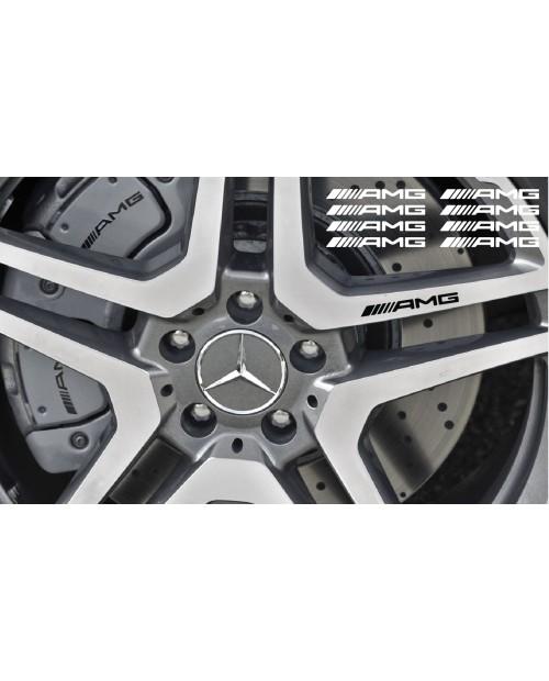 Aufkleber passend für AMG Bremssattel Felgen Spiegel Fenster Aufkleber 87mm + 107mm