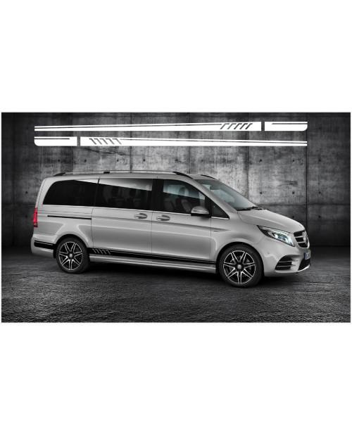 Aufkleber passend für Mercedes Benz Seitenaufkleber Vito Viano First edition AMG 4Stk. Satz