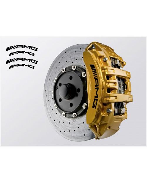 Aufkleber passend für AMG Bremssattel Aufkleber 4Stk. Satz 135mm 108mm