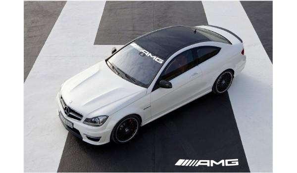 Aufkleber passend für Mercedes Benz AMG Frontscheibe Aufkleber Neu logo 950mm