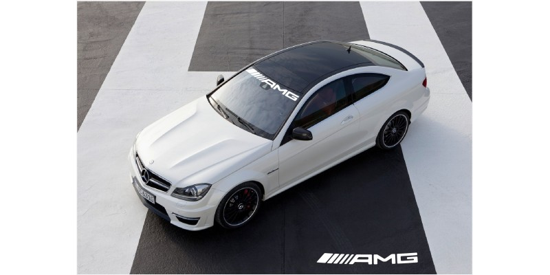 Decal to fit Mercedes Benz AMG windscreen decal – new logo 950mm