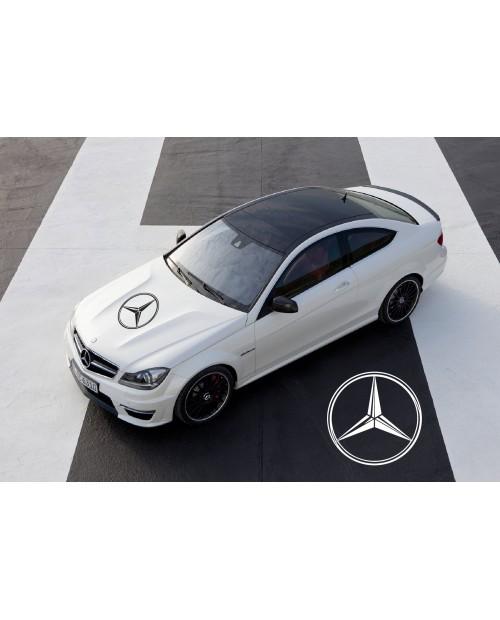 Aufkleber passend für Mercedes Benz AMG Haubenaufkleber 58cm V.2