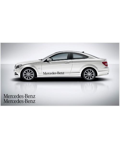 Aufkleber passend für Mercedes Benz Seitenaufkleber 100cm 2Stk. Satz