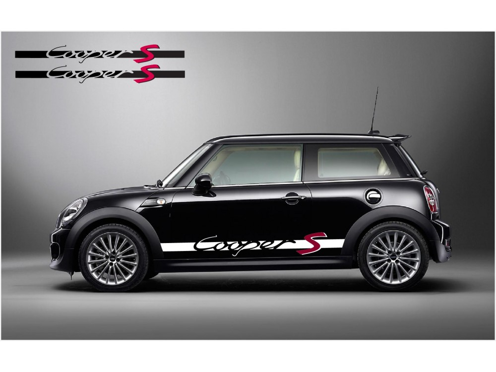 Decal To Fit Mini Cooper S Side Decal Set Min0004 For Mini