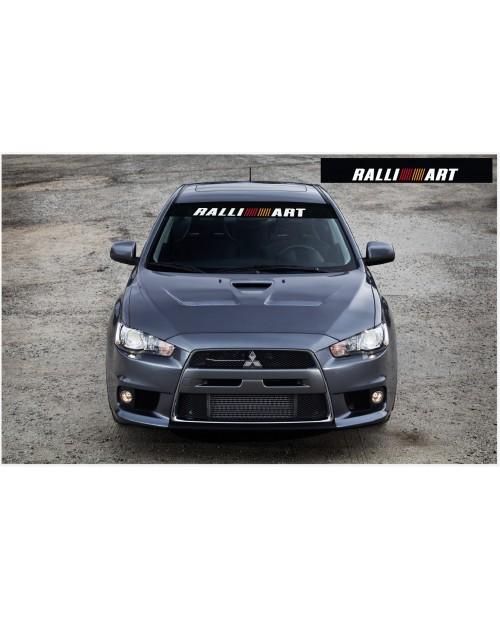 Aufkleber passend für Mitsubishi Ralli Art Frontscheibe Aufkleber 1400mm