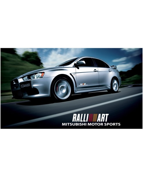 Decal to fit Mitsubishi Lancer Evolution Rally Art side decal 400mm