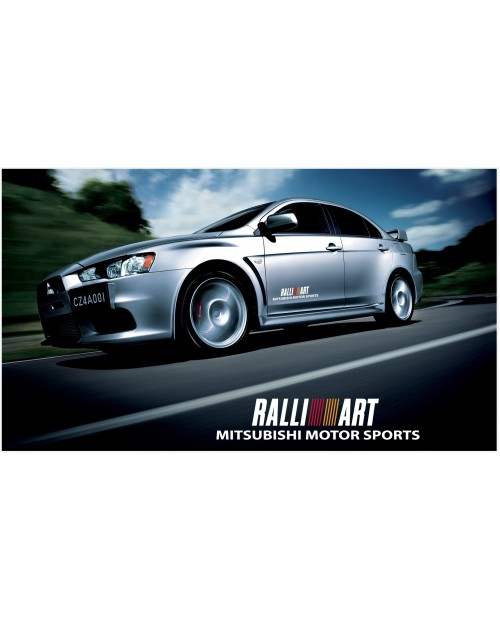 Decal to fit Mitsubishi Lancer Evolution Rally Art side decal 500mm 2pcs. kit