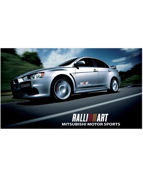 Aufkleber passend für Mitsubishi Lancer Evolution Rally Art Seitenaufkleber Aufkleber 500mm 2Stk. Satz