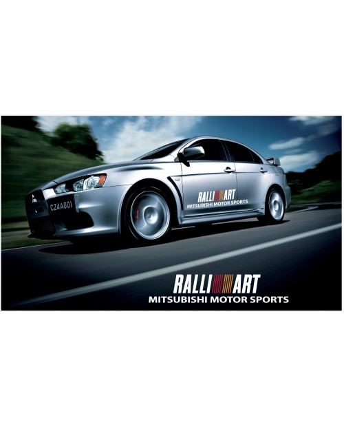 Decal to fit Mitsubishi Lancer Evolution Rally Art side decal 1200mm 2pcs. kit