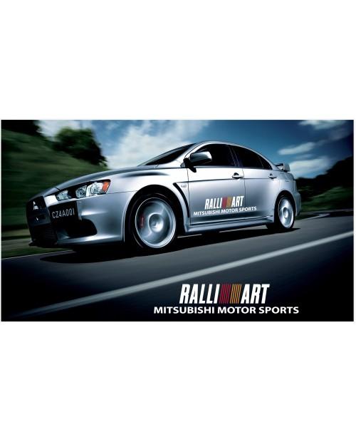 Aufkleber passend für Mitsubishi Lancer Evolution Rally Art Seitenaufkleber Aufkleber 1200mm 2Stk. Satz