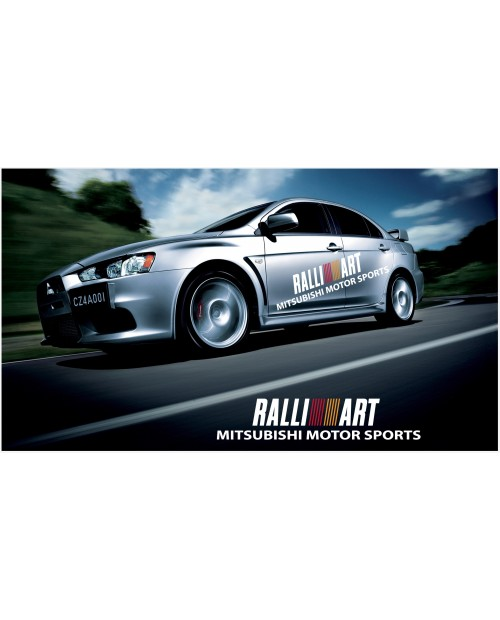 Decal to fit Mitsubishi Lancer Evolution Rally Art side decal 1800mm 2pcs. kit