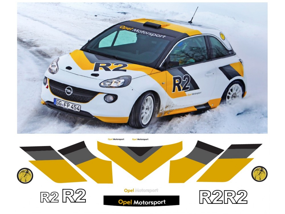 Decal To Fit Opel Motorsport Adam R2 Whole Set Ope0018