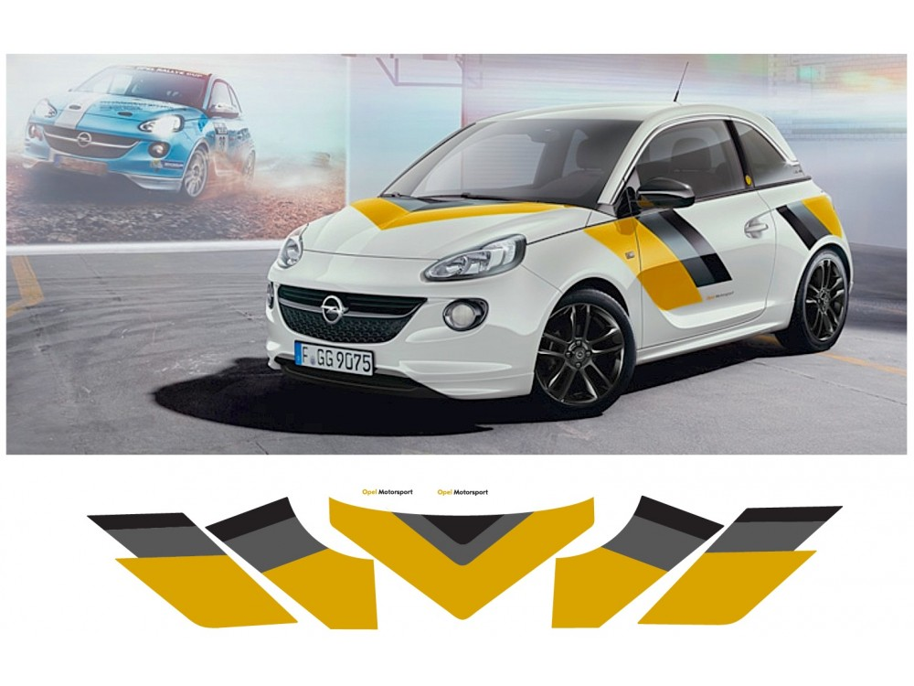 Decal To Fit Opel Adam Motorsport Komplet Set 5pcs